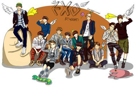 wallpaper anime exo exo chibi deviantart more like chibi by jakurin chan