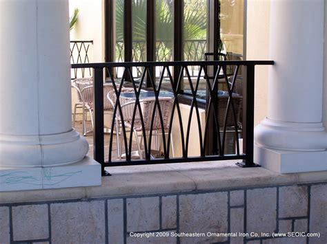 Balcony Banister by Commercial Railing Decorative Deco Glass Handicap Fdot