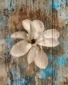 Blue Wall Decor by Pictures Rustic Modern Brown Blue Flower Home Decor Wall