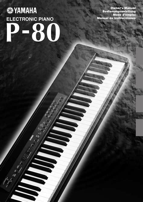 electronic keyboard tutorial pdf yamaha electronic keyboard p 80 user guide manualsonline com