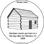 born in a log cabin 1809 abraham lincoln was on sketch template