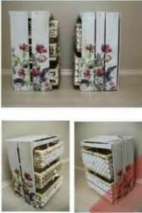 canastas de palitos madera de colores con decoupage y canastas de mimbre muebles con