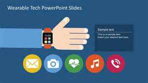 Template Slide Powerpoint by Free Wearable Technology Powerpoint Slide