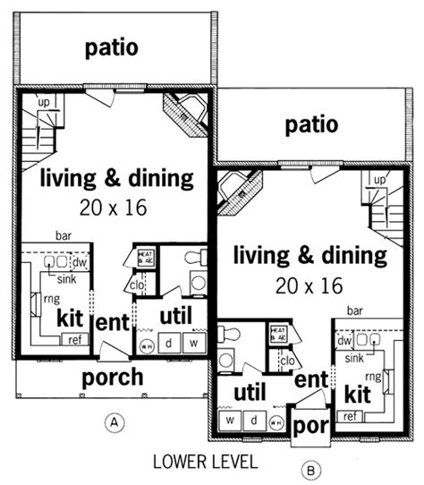 narrow lot duplex floor plans duplex plans for narrow lots image search results