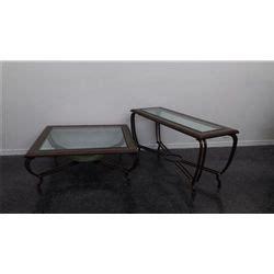 iron and glass sofa table iron and glass sofa table matching coffee