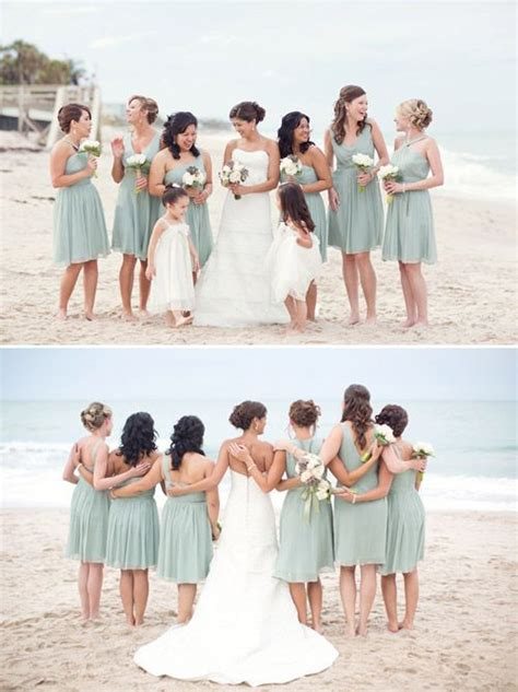 beach wedding with muted natural color palette beach