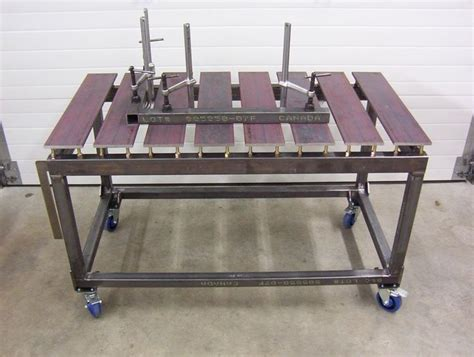 welding bench ideas another skeleton table with adjustable slats by a new