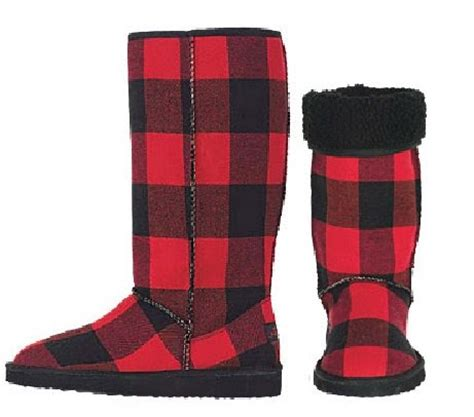 grace my closet: red and black buffalo check boots and