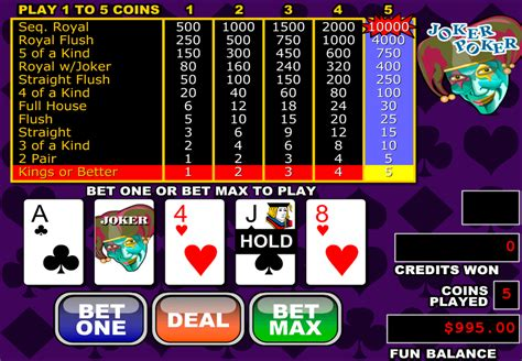 play joker poker video poker  rtg