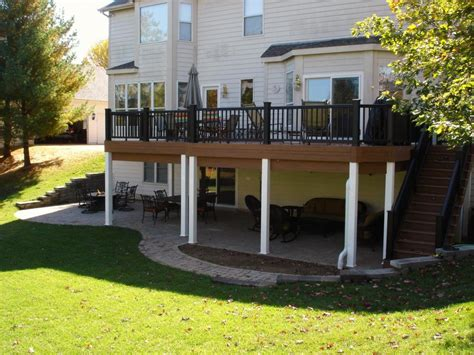 after deck with paver patio and under deck ceiling