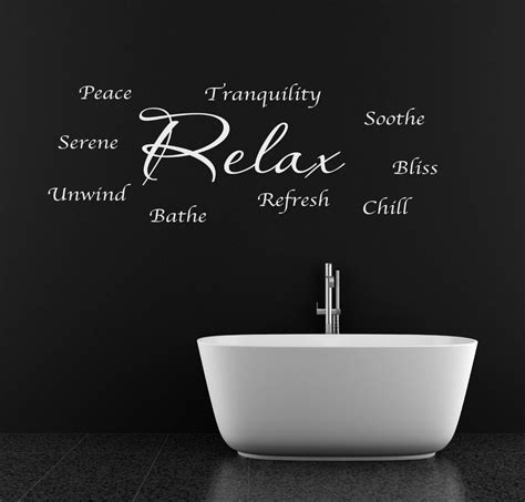 Terms For Bathroom by Relax Unwind Refresh Bathroom Words Phrases Wall Sticker