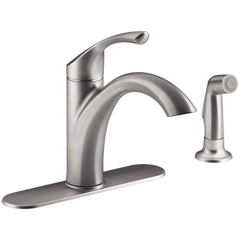 kohler single handle kitchen faucet kohler mistos single handle standard kitchen faucet with