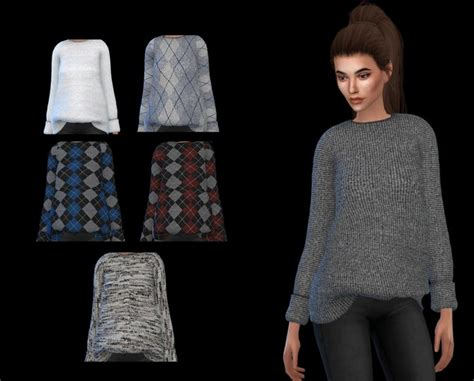 oversized sweater sims 4 cc puresims oversized sweater at leo sims 187 sims 4 updates