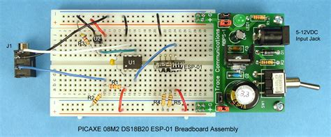 breadboard circuit assembly connect a picaxe to the of things