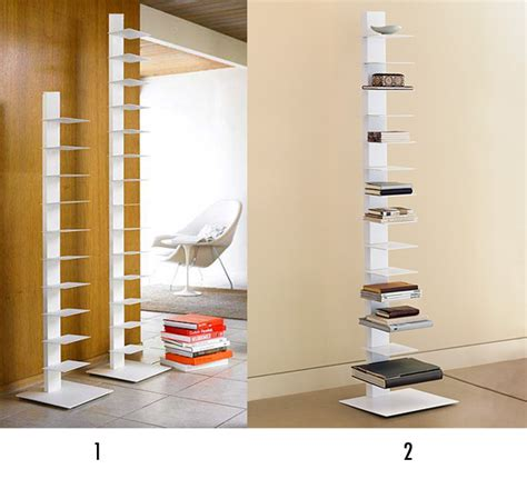 less or more vertical bookcases popsugar home