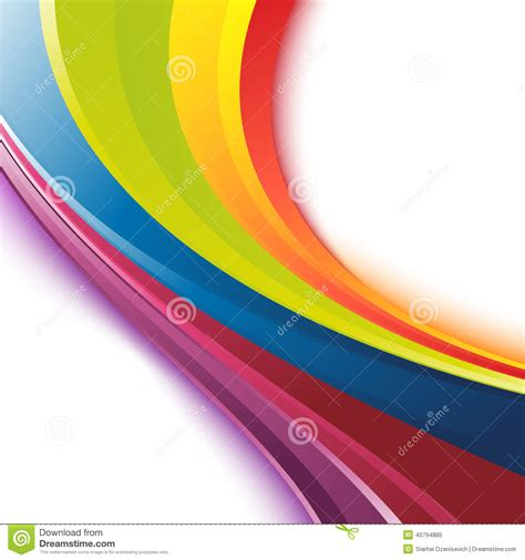 Colorful Template Bright Smooth Rainbow Colorful Waves Template Stock Vector