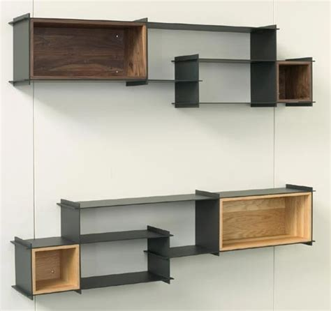 modern wall storage hivemindesign crux wall unit modern display and wall