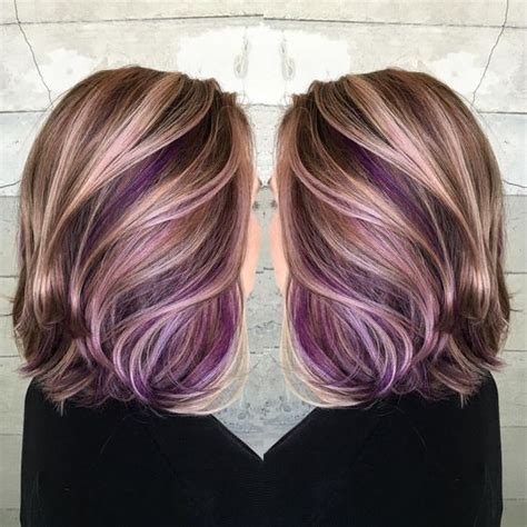 cute peekaboo highlights purple peekaboo hair color colorful hair pinterest