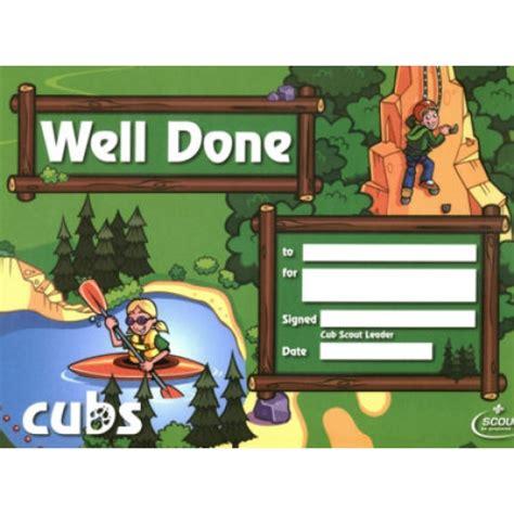cub scout certificate templates cub scout certificate just b cause