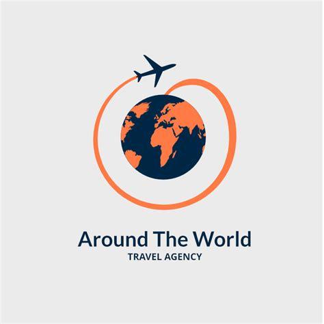 world travel agency logo design maker