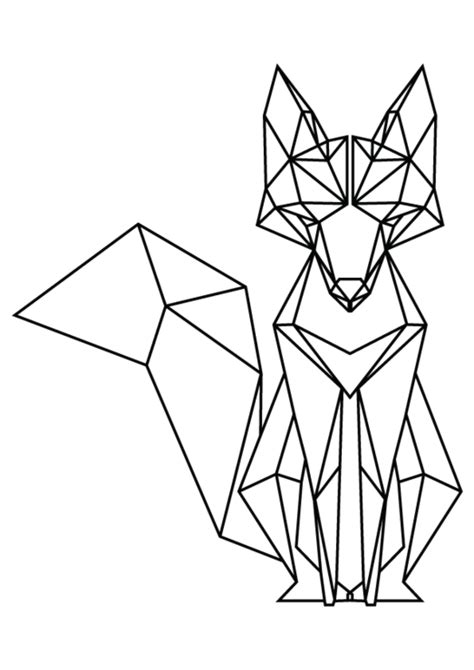 geometric line art tutorial geometric fox hello pretty buy design