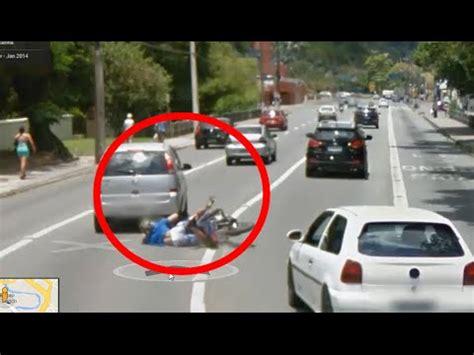 bike accident caught on google street view google maps