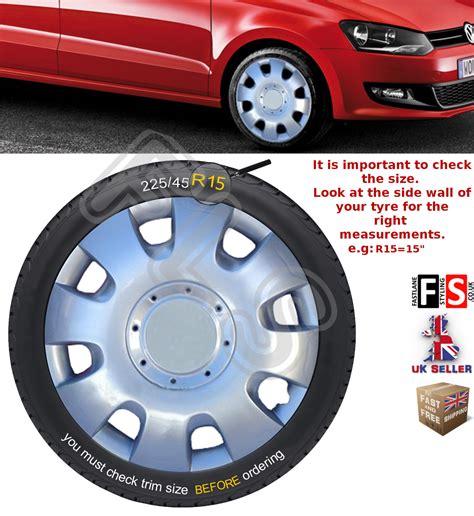 volkswagen wheel trims vw golf plus 15 quot wheel trims trim hub caps brand new a set