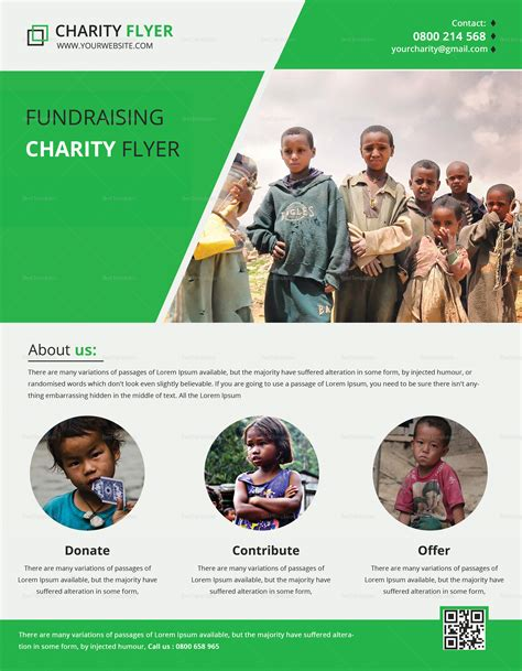 Charity Fundraising Flyer Print Design Template In Psd Word Publisher Illustrator Fundraiser Flyer Templates Photoshop