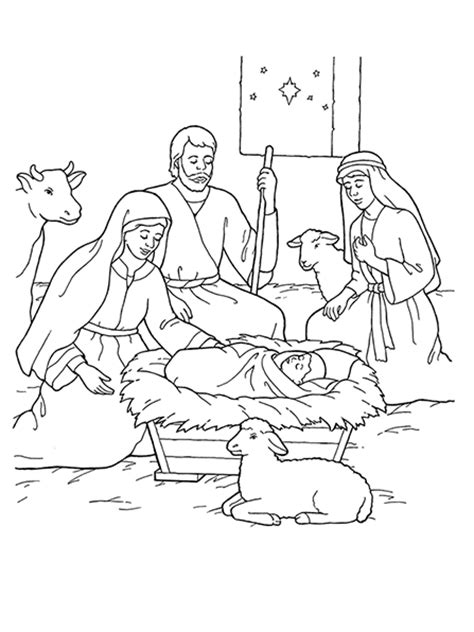 nativity mary coloring page life s journey to perfection 2016 lds sharing time ideas