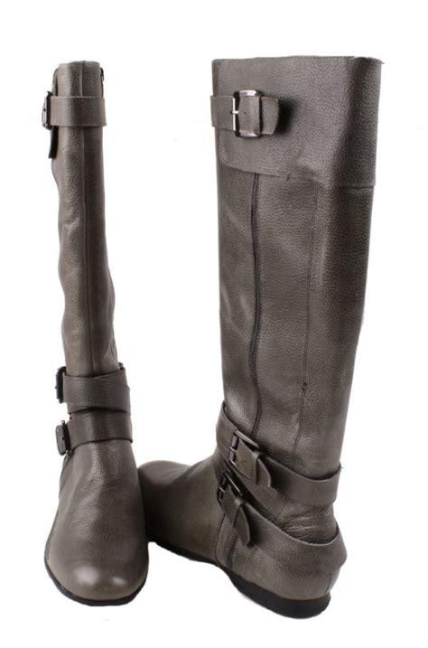 enzo angiolini zenzi womens grey leather knee high