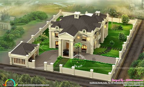 design a mansion colonial home top view kerala home design and floor plans