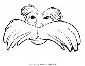 the lorax eyebrows colouring pages