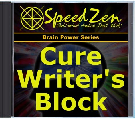 8 Cures For Writers Block by Cure Writer S Block Subliminal Mp3 Speedzen