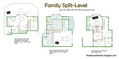 split entry house floor plans if walls could dream family split level