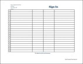 Free Sign In Sheet Template by 7 Free Sign In Sheet Templates Word Excel Pdf Formats
