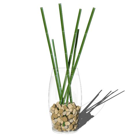 Vase Bamboo Sticks by Decorative Bamboo In Vases 3d Model Formfonts 3d Models Textures