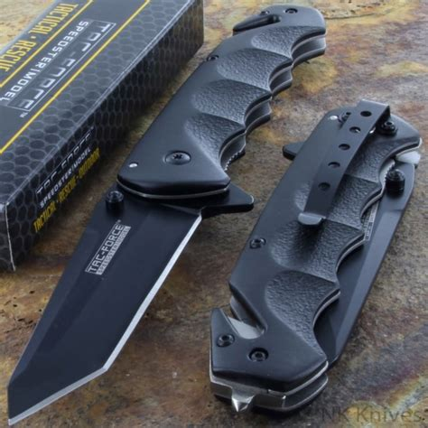 tactical pocket knife tac black tanto blade assisted tactical