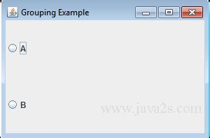 jradiobutton exle in java swing buttongroup java
