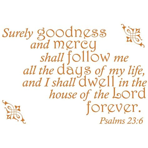 psalms 23 6 bible verse wall decal divine walls