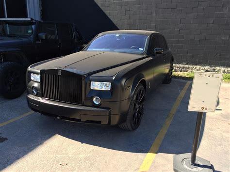 Rolls Royce Matte by Rolls Royce Phantom Matte Black Wrap Accelerate