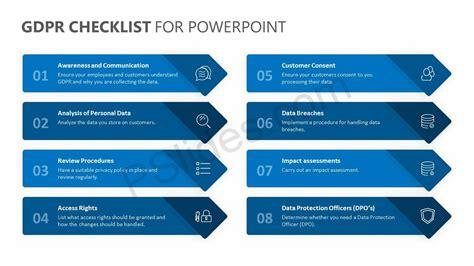 Gdpr Checklist For Powerpoint Pslides Gdpr Checklist Template