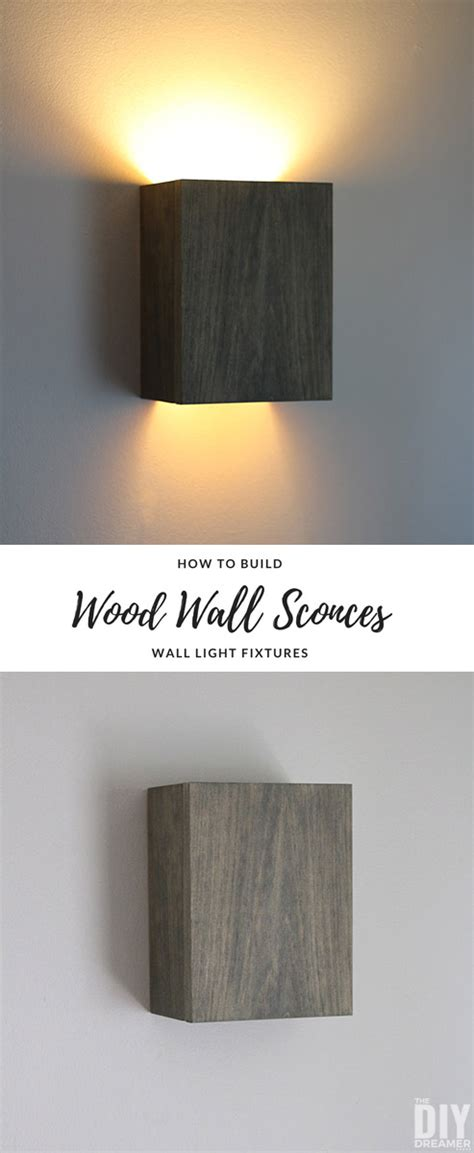 How To Build Wall Light Fixtures Diy Wood Wall Sconces