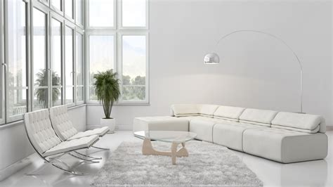 Interior Design White Living Room by The White Room Mystery Wallpaper