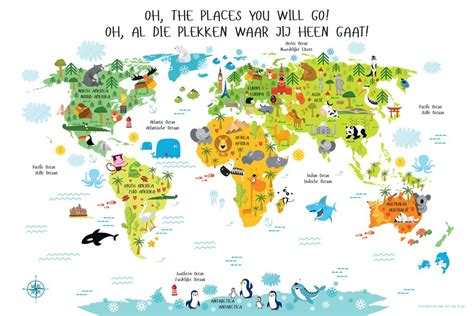 printable children s world maps free bilingual world map poster for kids in english dutch