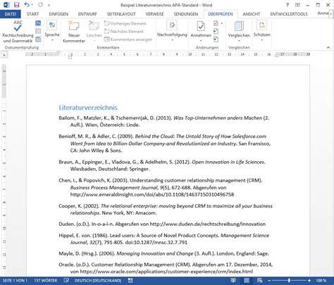 apa format zitieren beispiel literaturverzeichnis
