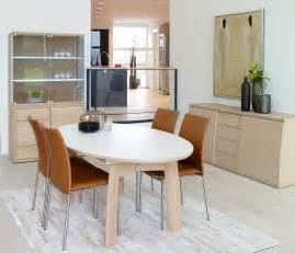 Modern white oval dining table with chairs china buffet and sideboard