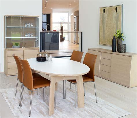 oval modern dining room table skovby  wharfside