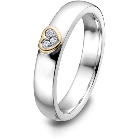 sterling silver and 14k gold mix promise ring uls 15053