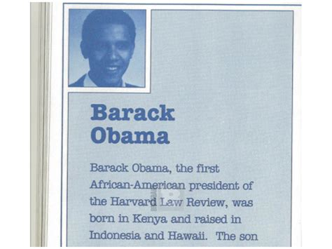 barack obama biography presentation breitbartcom is pumping this 1991 promotional document