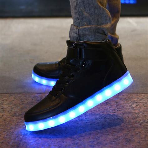 light up shuffle shoes light up shoes black high top light up revolution